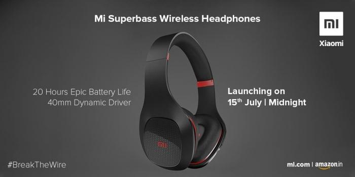 Беспроводные наушники Xiaomi Mi Superbass будут представлены в Индии 15 июля